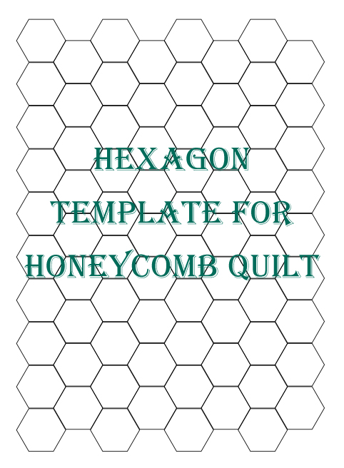 Hexagon patchwork on pinterest hexagon quilt hexagons for Hexagon templates for quilting free