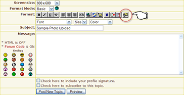 There it is, the button furthest right on the format toolbar.