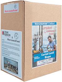 Team Rubicon packaging box