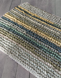 Knit T Shirts Into Rugs